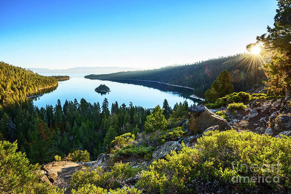 Pristine Photograph - A New Day Over Emerald Bay by Jamie Pham