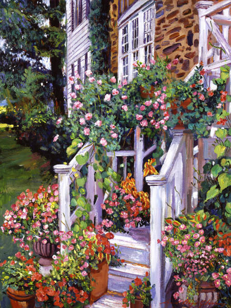 Porch Painting - A New England Visit by David Lloyd Glover