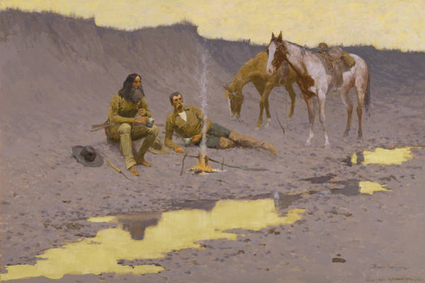 Painting - A New Year On The Cimarron by Frederic Remington
