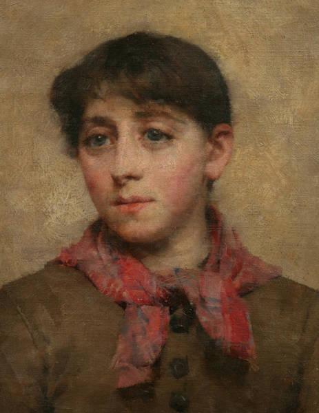 Newlyn Painting - A Newlyn Maid by Elizabeth Adela Stanhope Forbes