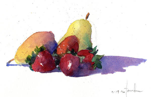 Painting - Still Life With Pears by James Faecke