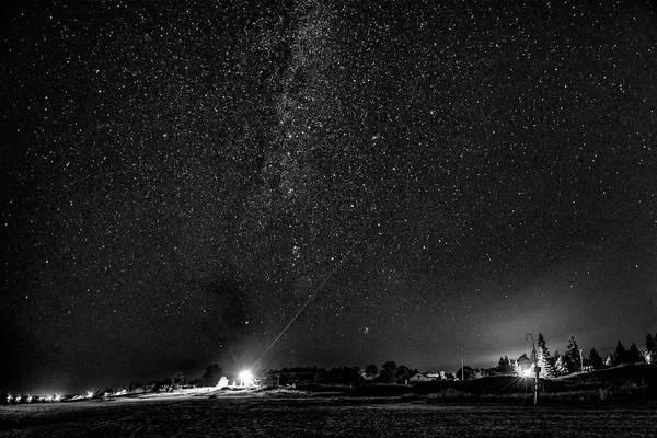 Sauble Beach Photograph - A Night At The Beach 6 Bw by Steve Harrington