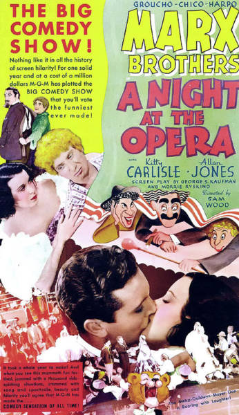 Wall Art - Mixed Media - A Night At The Opera 1935 by Mountain Dreams