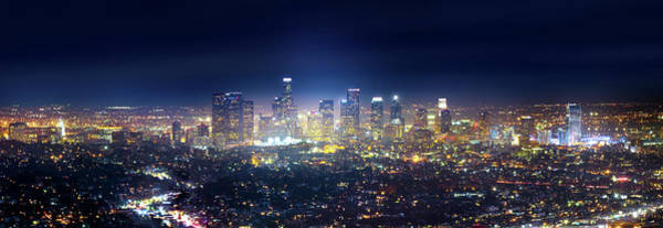 Los Angeles Skyline Photograph - A Night In Los Angeles by Mark Andrew Thomas