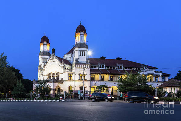 Photograph - A Night View Of The Famous Lawang Sewu Building In Semarang by Didier Marti