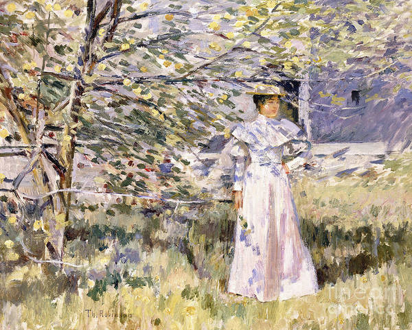 Normandy Painting - A Normandy Garden, October by Theodore Robinson
