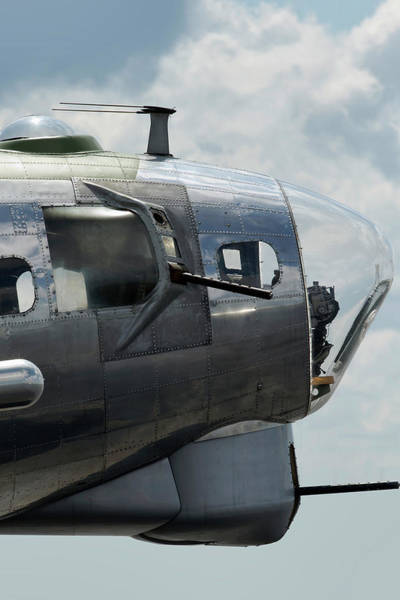 B-17 Bomber Photograph - A Nose For Action by Peter Chilelli