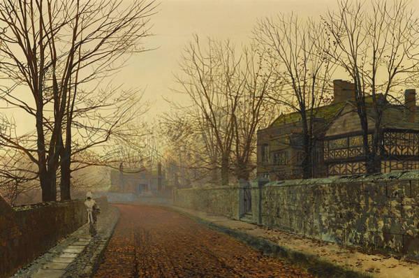 Wall Art - Painting - A November Morning by John Atkinson Grimshaw