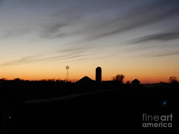 Photograph - A November Sunset Over The Farm by Christine Clark