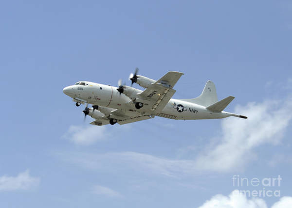 Warplane Photograph - A P-3c Orion Aircraft Takes by Stocktrek Images