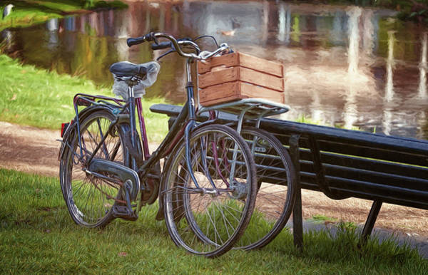 Photograph - A Pair Of Bikes In Amsterdam by Joan Carroll