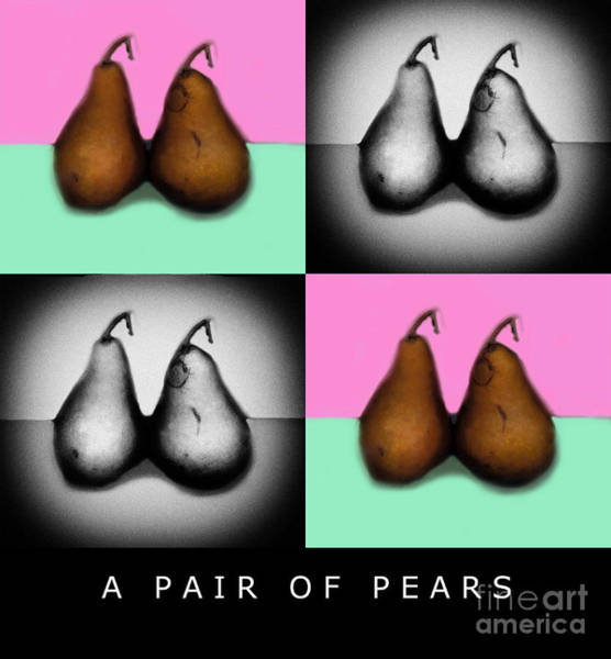 Wall Art - Photograph - A Pair Of Pears by Madeline Ellis
