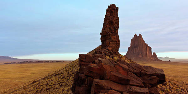 Wall Art - Photograph - A Pair Of Volcanic Dikes Radiating Out From Shiprock by Derrick Neill