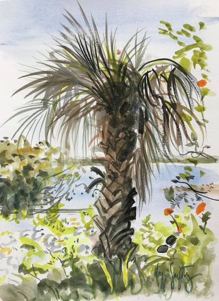 Captiva Island Painting - A Palm With Personality by Maggii Sarfaty