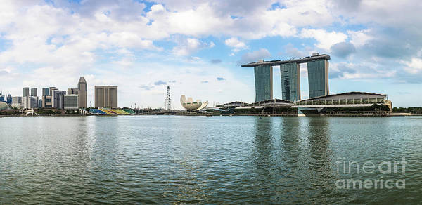 Photograph - A Panorama Of Marina Bay Sands In Singapore by Didier Marti