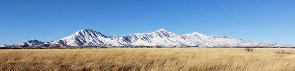 Wall Art - Photograph - A Panorama Of The Snowy Huachuca Mountains by Derrick Neill
