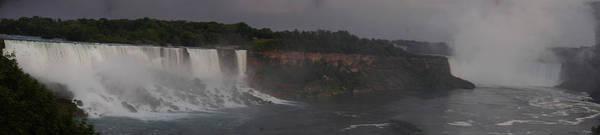 A Panoramic View Of Niagara Falls Art Print