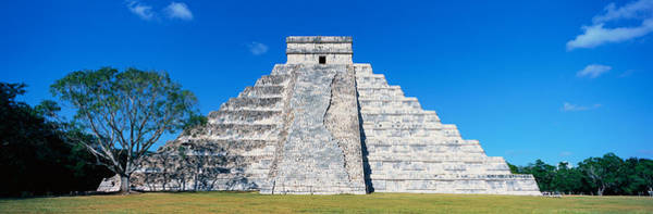Mesoamerican Photograph - A Panoramic View Of The Mayan Pyramid by Panoramic Images