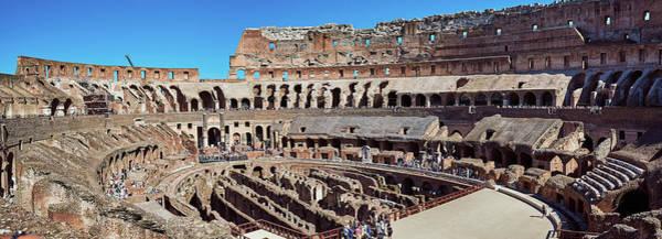 Photograph - A Panoramic View Of The Roman Coliseum by Fine Art Photography Prints By Eduardo Accorinti
