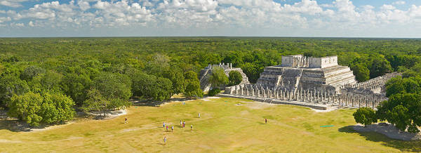 Mesoamerican Photograph - A Panoramic View Of The Temple by Panoramic Images