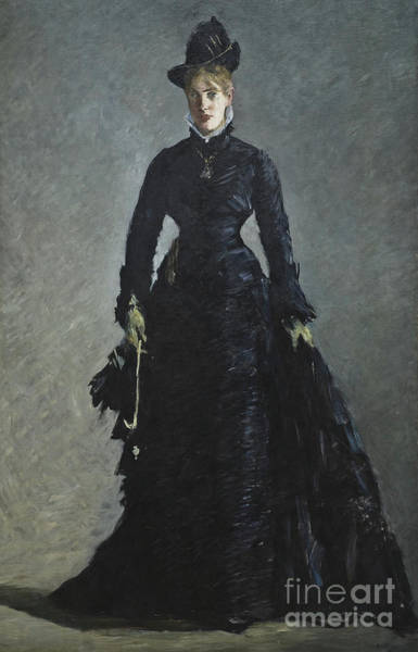 Wall Art - Painting - A Parisian Lady by Edouard Manet