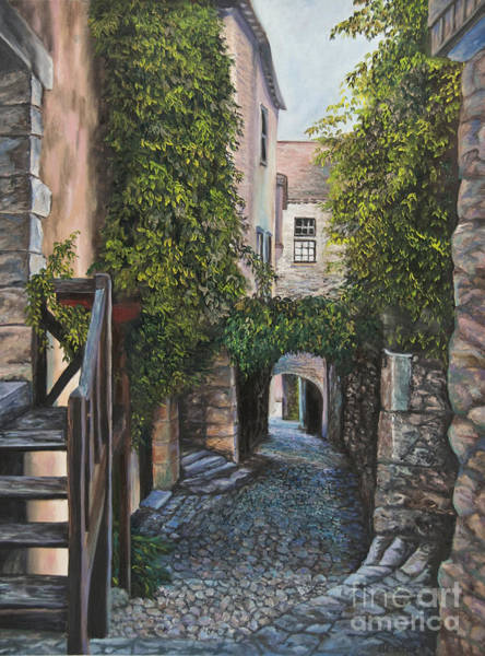 Narrow Street Painting - A Passage In Time by Charlotte Blanchard