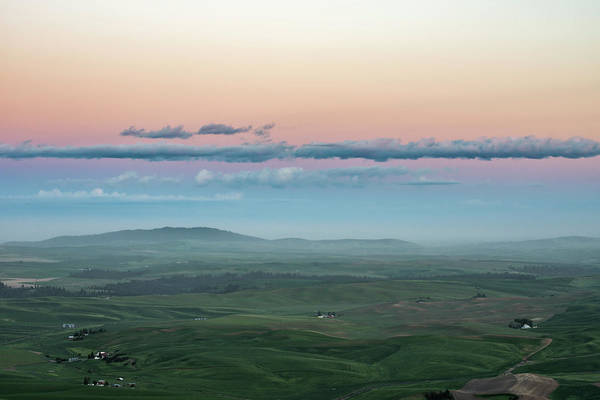 Photograph -  A Pastel Sunset In Palouse. by Usha Peddamatham