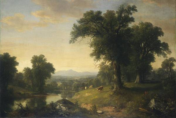 Wall Art - Painting - A Pastoral Scene by Asher Brown Durand