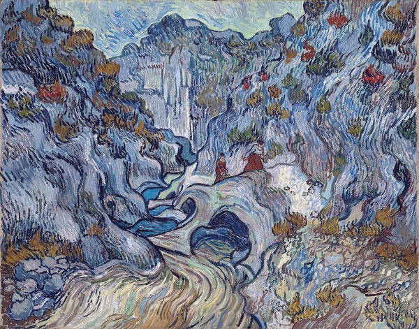 Grand Rapids Painting - A Path Through A Ravine, 1889 by Vincent Van Gogh