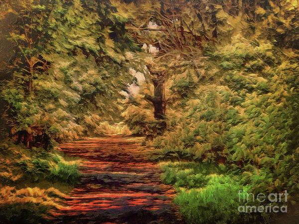 Digital Art - A  Path To Follow by Leigh Kemp