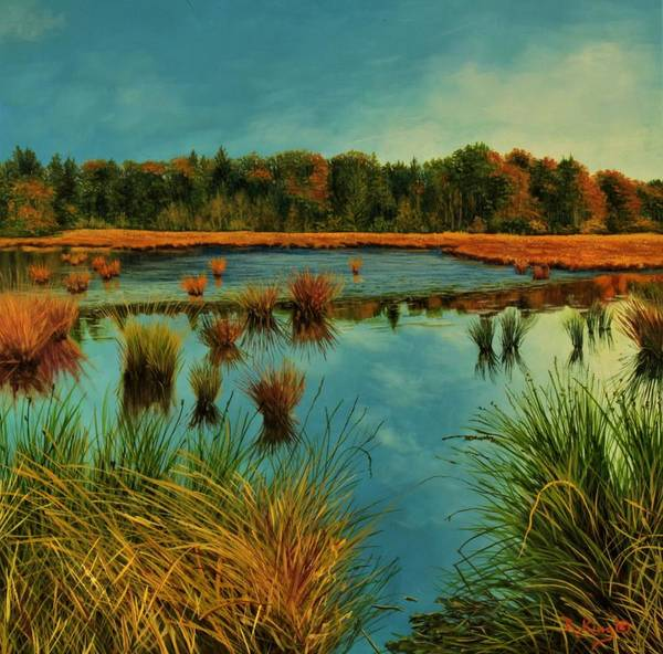 Wall Art - Painting - A Peaceful Place by Roena King
