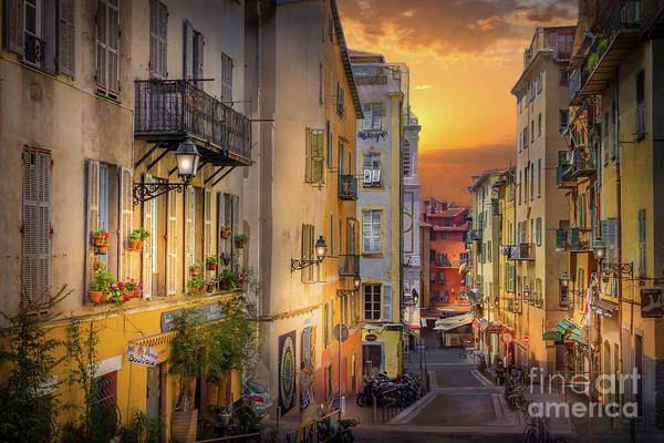 Wall Art - Photograph - A Pedestrian Street In Old Town Nice, France by Liesl Walsh