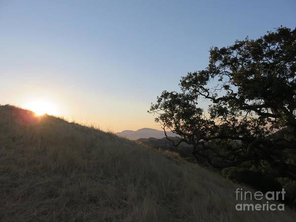 Mt. Diablo Wall Art - Photograph - A Peek Of Sunrise by Suzanne Leonard