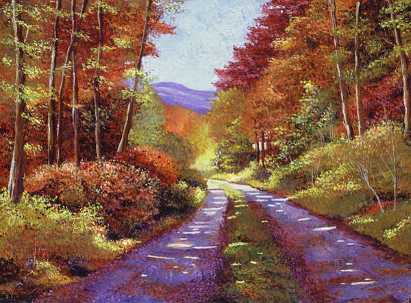 Wall Art - Painting - A Perfect Day In New Hampshire by David Lloyd Glover