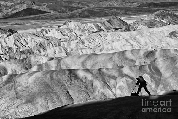 Gully Photograph - A Photographer Catching The Perfect Light At Zabriskie Point. by Jamie Pham