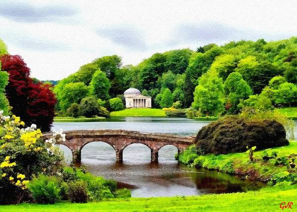 Stourhead Wall Art - Digital Art - A Piece Of Paradise That Dropped On To Earth At Stourhead  L A S by Gert J Rheeders