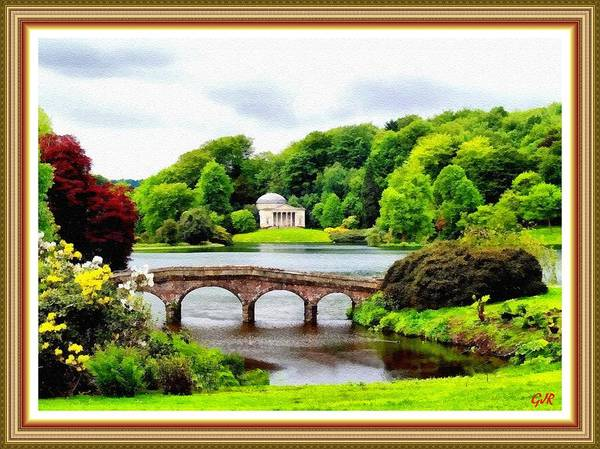 Stourhead Wall Art - Digital Art - A Piece Of Paradise That Dropped On To Earth At Stourhead  L  A S With Printed Frame. by Gert J Rheeders