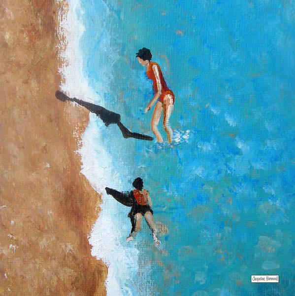 Painting - A Piece Of The Beach - Orange Swim by Jacqueline Hammond
