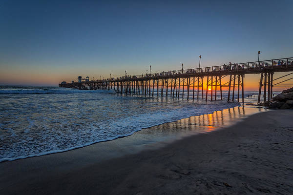 Oceanside Pier Photograph - A Piers To Be Last Light by Peter Tellone