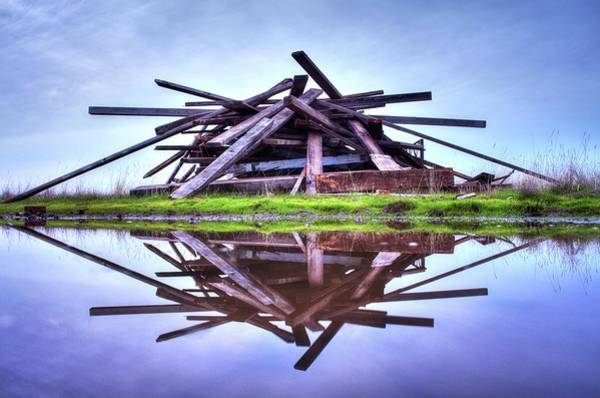 Photograph - A Pile Of Wood by Quality HDR Photography