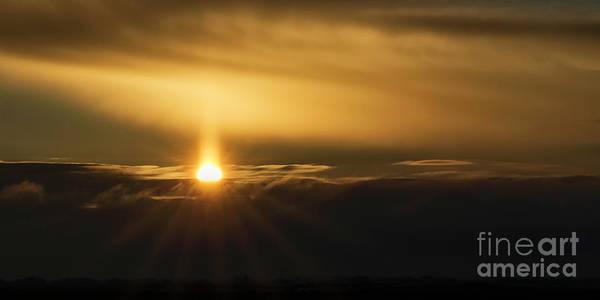Photograph - A Pillar Of Golden Light by Brad Allen Fine Art