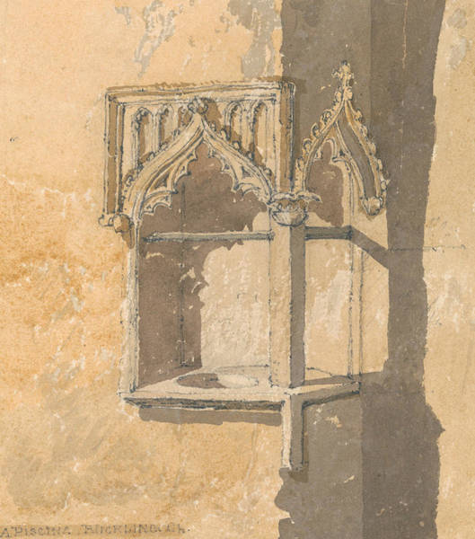 Painting - A Piscina In Blickling Church, Norfolk by John Sell Cotman