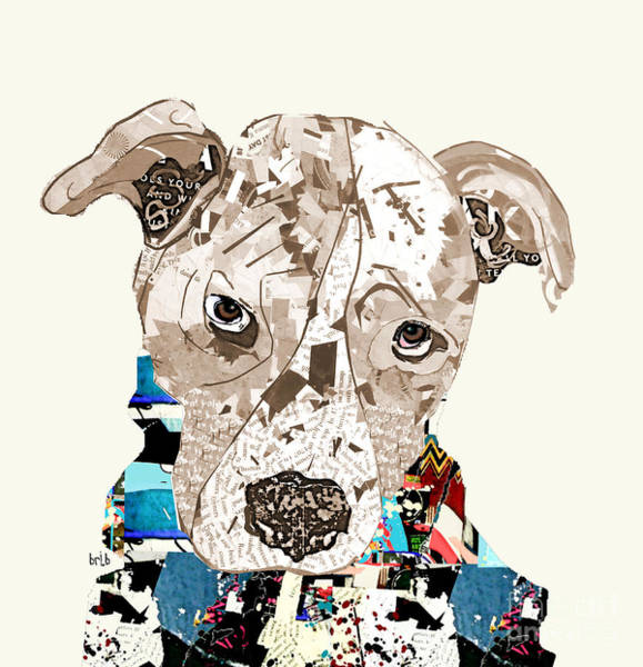 Pitbull Painting - A Pit Bull Day by Bri Buckley
