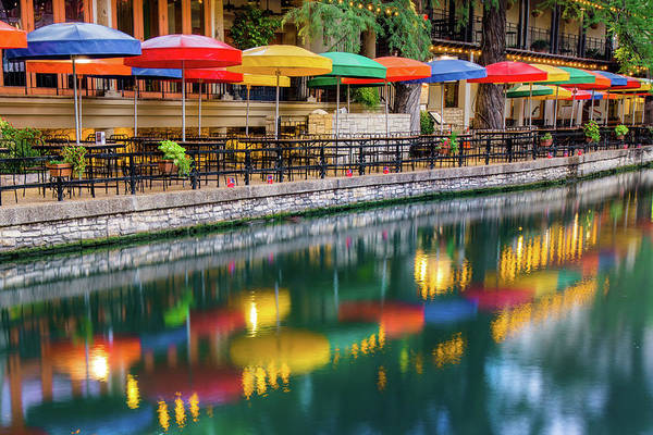 Photograph - A Place For Lovers - Riverwalk Of San Antonio Texas by Gregory Ballos