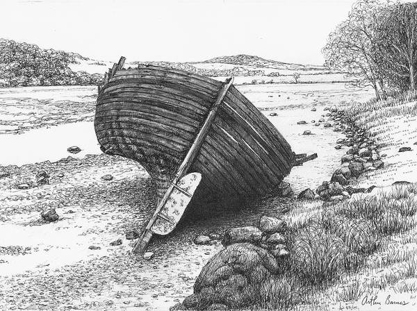 Wales Drawing - A Place I Found by Arthur Barnes