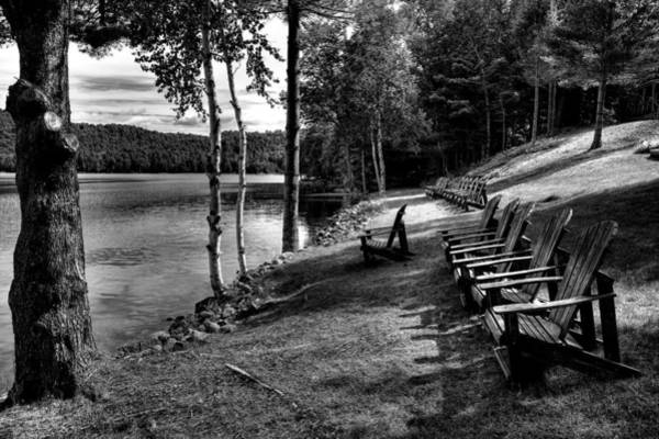 Fulton Chain Of Lakes Photograph - A Place To Relax At The Woods Inn 2 by David Patterson
