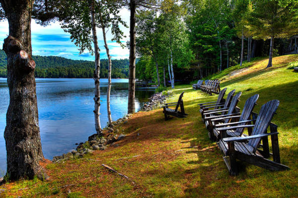 Fulton Chain Of Lakes Photograph - A Place To Relax At The Woods Inn by David Patterson