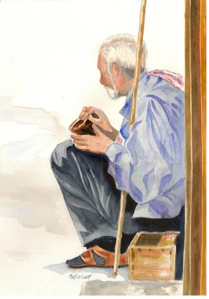 Poor Wall Art - Painting - A Poor Man's Plight by Marsha Elliott