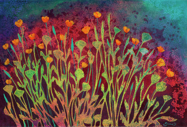 Night Painting - A Poppy Tapestry by Jennifer Lommers
