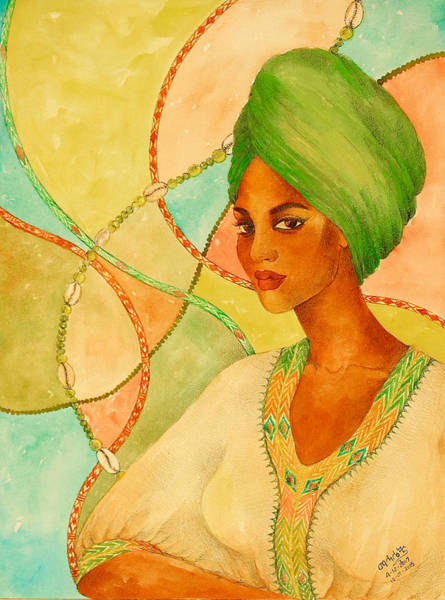Painting - A Portrait by Mahlet